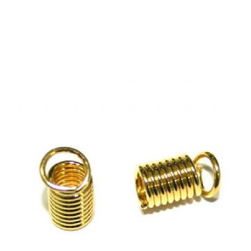 20 x 4mm gold plated spring ends - S.F06 - WC037 - 2502108